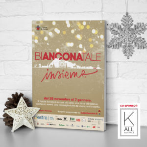 "Marchio K-All su Manifesto 100x140 ""Auguri Ancona! Bianconatale 2017"""